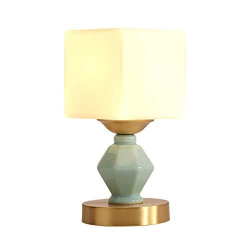 Stilvolle Einfachheit Keramik Tischlampe, Tischlampenschirm mit Messingfuß, Schlafzimmer Nachttischlampe, 12X27Cm, tld
