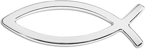 Cruiser Accessories 83103 Ichthus 3D Cals Raised Adhesive Decal Chrome product image