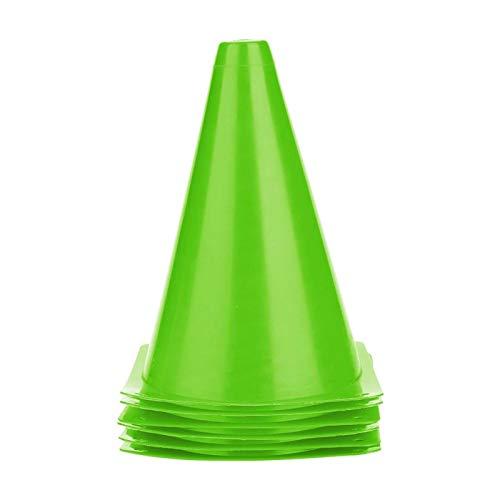 KUIDAMOS Conos de Disco de Seguridad de Agilidad Conos de Disco de fútbol Conos de Entrenamiento de fútbol para niños Gimnasio en casa Fútbol para fútbol y Baloncesto(Green)