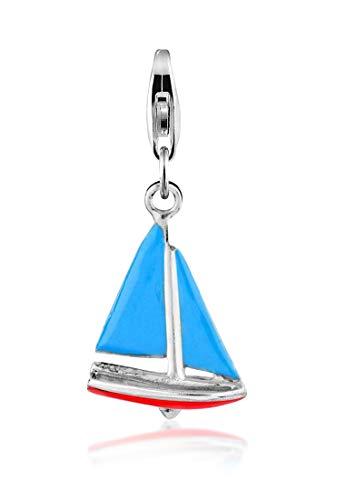 Nenalina 714083-001 Ciondolo in argento sterling 925, a forma di barca a vela, adatto per tutti i braccialetti con charm in commercio