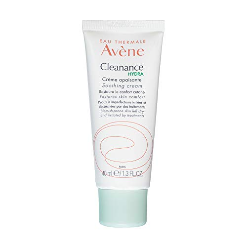 Eau Thermale Avene Cleanance HYDRA Soothing Cream, Adjunctive Care for Drying Acne Treatment 1.3 Oz