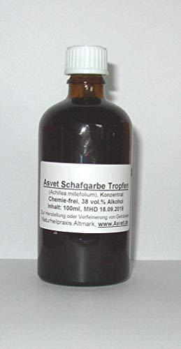 100ml Schafgarbe Tinktur, Tropfen, Achillea millefolium Konzentrat ohne Chemie, handgemacht, 100% vegan und natürlich !