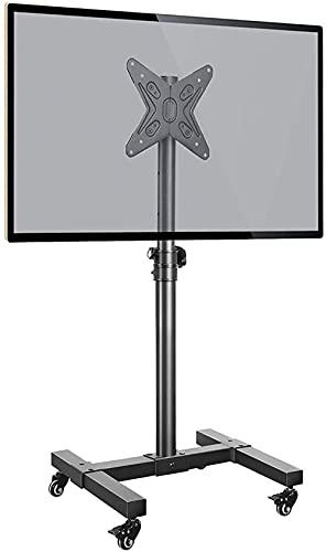 YYAI-HHJU Soporte Universal para TV Móvil con Ruedas para Carro De TV con Ruedas De 13-43 Pulgadas, Máximo, 55 Libras, Altura Ajustable (Color: Negro)