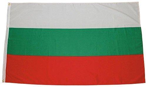MFH Fahne 90x150 cm Länderflagge WM EM Hissflagge Nationalfahne Deutschlandfahne (Bulgarien)