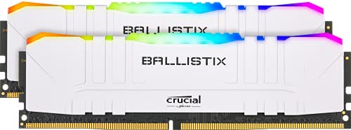Crucial Ballistix RGB 3600 MHz DDR4 DRAM Desktop Gaming Memory Kit 16GB (8GBx2) CL16 BL2K8G36C16U4WL (White)