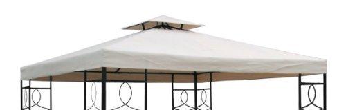 Spetebo Toit de remplacement pour pavillon de jardin Toile polyester 270 g/m² imperméable grâce à un revêtement PVC 3 x 3 m beige