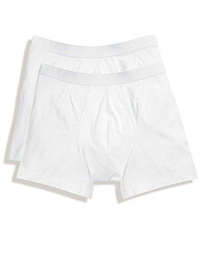 Fruit of the Loom Lot de 6 paires de boxers classiques pour homme - Blanc - Large