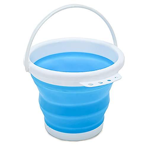 Cubo plegable de silicona prémium para el hogar, 3 litros, cubo de limpieza para lavados, limpieza del hogar, exteriores, pesca y camping, caravanas, viajes.