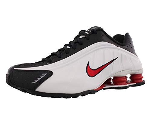 Tênis masculino Nike Shox R4, Platinum Tint/University Red-black, 9.5