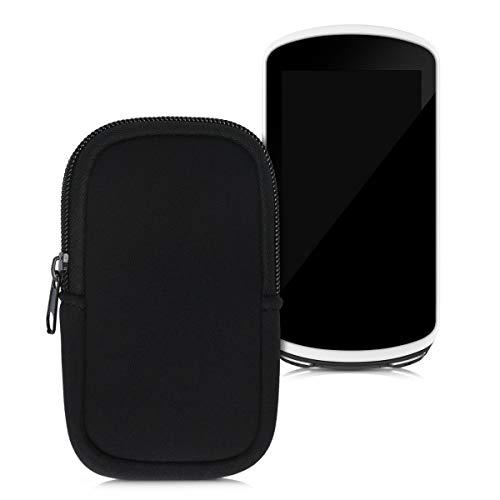 kwmobile Custodia Protettiva compatibile con Garmin Edge 1030/1030 Plus / 1000 - Astuccio in Neoprene Chiusura Zip - Soft Pouch per Bike GPS nero