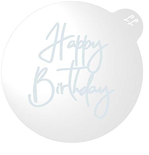 LissieLou Happy Birthday Keks Stempel Glasur Fondant Präger für Geburtstagsfeiern - Clear
