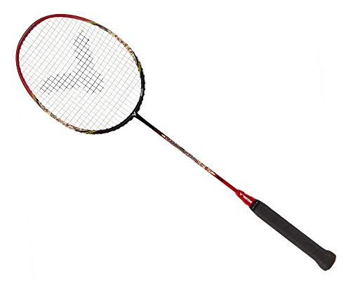 VICTOR Arrow Power 8800 G5 Strung Badminton Racket String Tension Upto 35lbs (Red/Black) (4U)