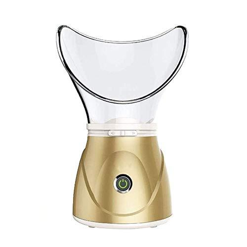 Vapeur visage vaporisateur Femmes du visage Steamer, Nano Facial vapeur Inhaler, Pore Blackhead Enlèvement et nez Impureté Mist hydratantes, One-Touch Switch, réglable Fog Outlet ( Color : Gold )