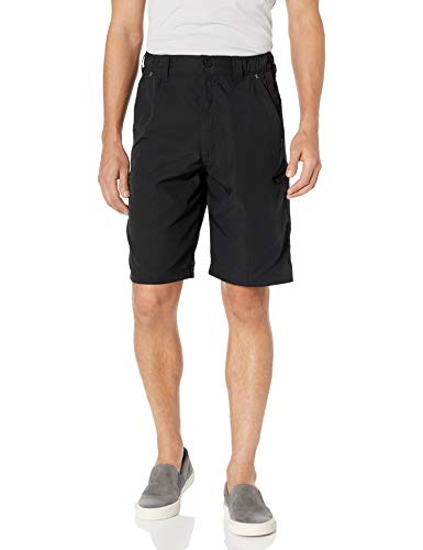 Wrangler Authentics Men's Performance Side Elastic Utility Short, black, 38