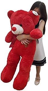 Teddy Bear Stuffed Animals Toy big 80 cm Plush Bear Doll large for Kid Friend Children Christmas Valentines Day ,80 cm (RED)