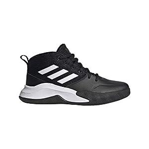 adidas Own The Game Wide ShoesBlack/White/White5.5