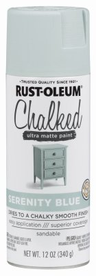 Rust-Oleum Chalked Ultra Matte Serenity Blue Sprayable Chalk Paint 12 oz.