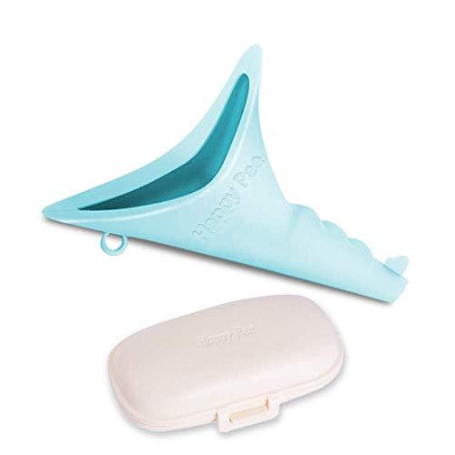 ASEOK Mujer Dispositivo urinario portátil - le Permite orinar de pie, Discreto Reutilizable Urinario Embudo para la Mujer Viajes, Actividades al Aire Libre, Camping, Festivales (Azul)