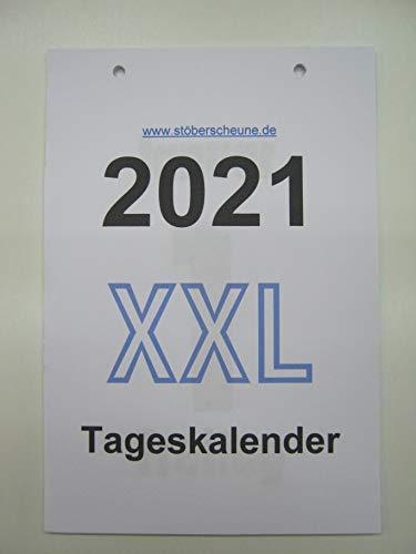 Tageskalender, XXL 2021 Kalendarium (Einlegeblätter) zur Weiternutzung der Rückwand/Halterung, DIN A 5 ca 25 x 14,5 cm