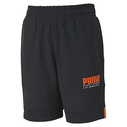 Puma Alpha Jersey S B, Pantaloncini Bambino, Black, 164