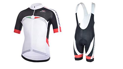 Threeface Completo Estivo Ciclismo Saint Maglia + Salopette Tuta Bici Made in Italy (XXL)