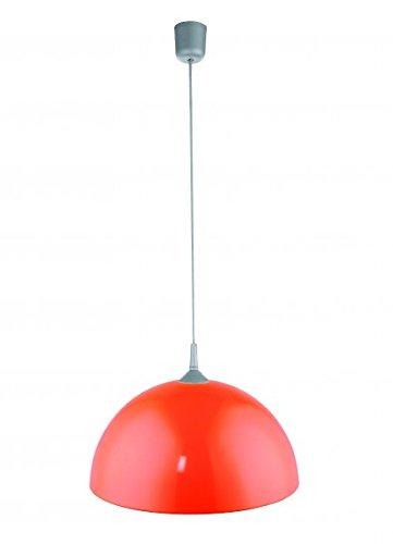 Elegante Hängeleuchte Lampe Leuchte Strahler mit Metallschirm Orange Durchmesser 41,5 cm