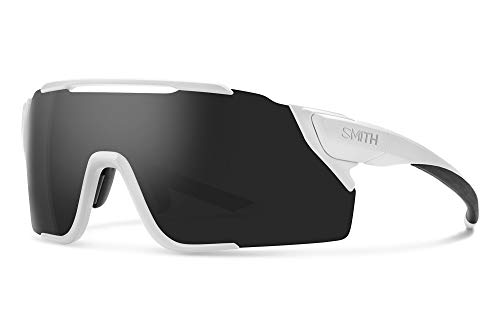 Smith Attack MAG Gafas de sol MTB ChromaPop, color blanco mate y negro, talla única