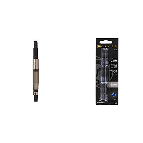 Cross 8756 - Émbolo de repuesto + 8920 - Pack de 6 cartuchos de tinta para pluma, color azul