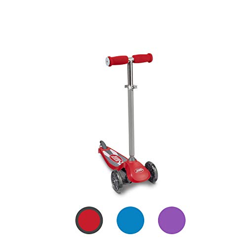 Radio Flyer Lean #039N Glide Scooter with Light Up Wheels Vehicle 549X Red