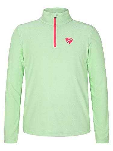 Ziener Kinder Jamil Junior Skipullover, Skirolli, Funktions-Shirt | Langarm, Atmungsaktiv, Fresh Mint, 152