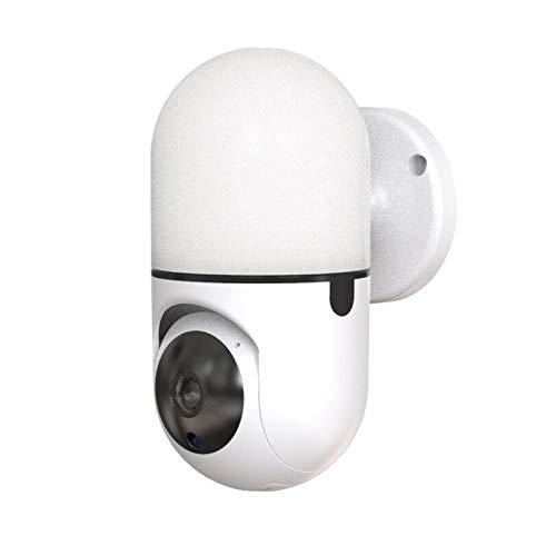 Walmeck Seguridad para el hogar Cámara WiFi Lámpara de Pared 1080P Cámara IP inalámbrica Monitor de bebé Cámara de Seguridad P/T/Z Iluminación de Patio, Registro de Tarjeta TF, Audio bidireccional