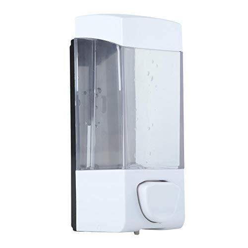Soap Dispenser, 350ml Wall Mounted Shampoo Dispenser Bathroom Kitchen Manual Plastic Soap Liquid Lotion Box Holder for Liquid Containers Shampoo