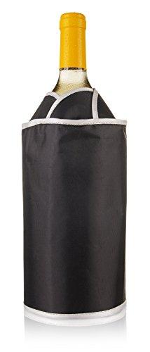 Vacu Vin 38704606 Aktiv Kühler exklusiv  Flaschenkühler, Kunststoff, schwarz