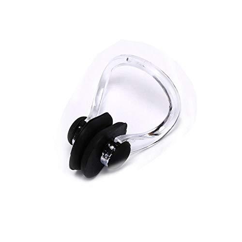 FICI 5pc Estuche con Clip para la Nariz Tapones para los oídos Protectores para Evitar el Agua Tapones para los oídos Suaves para Nadar Suministros de Buceo para natación a Prueba de Agua, Negro