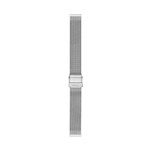 Fossil Women's 14mm Mesh Interchangeable Watch Band Strap, Color: Silver (Model: S141184)