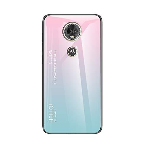 Custodia® Farbverlauf Anti-Kratzer Glas Hülle Kompatibel für Motorola Moto E5 Plus (2)