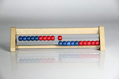 WISSNER® aktiv lernen - 20 er Rechenrahmen rot/blau - RE-Wood®