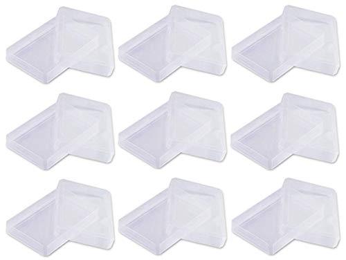 the lazy panda card company 9 x Kunststoffboxen Spielkarten Ordnungshilfen (Größe 9,7 x 6,6 x 2,5 cm) Spielkartenetui Kartenboxen (9 Stück)