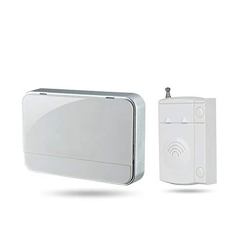 Maniny Timbre con Sensor magnético, Timbre Inalámbrico para Puerta/Entrada de La Puerta/Casa y Tienda/Buzón, Kit de Sistema de Alarma de Seguridad con 1 Sensor Y 1 Receptor