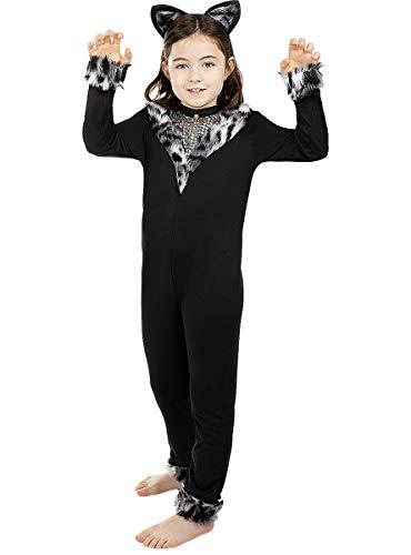 Funidelia   Disfraz de Gata para niña Talla 5-6 años ▶ Animales, Gatito, Kitten - Color: Gris / Plateado - Divertidos Disfraces y complementos para Carnaval y Halloween