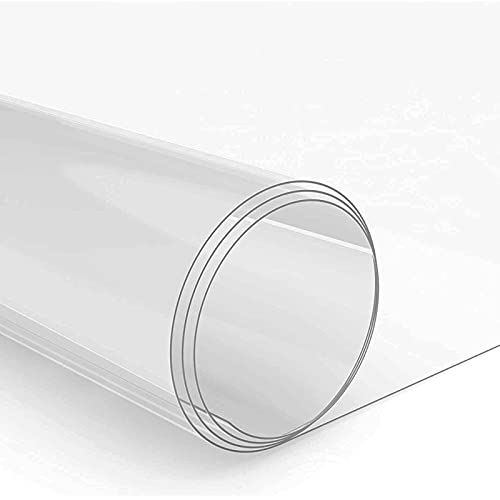 MAOYUAN Mantel de PVC Transparente, 1 mm de Espesor, Impermeable, Mantel de película de PVC, protección contra Manchas de Cristal, Muebles de Mesa de Cocina de Restaurante (80 * 120 *, Transparente)