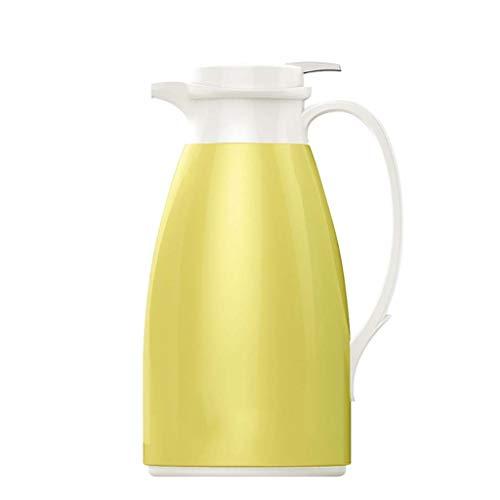 AHXF Jarra Térmica, Jarra Térmica para Café, 2.0L Doble Pared Vacío Aislado Jarra Térmica para, con Tapa, Libre De BPA, For El Café, Té, Bebida Etc (Color : Yellow)