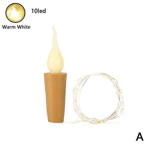 1 stuks LED-kaars vlamloze fles kurk wijnfles kurk licht voor feestjes Kerstmis Halloween bruiloftsdecoratie