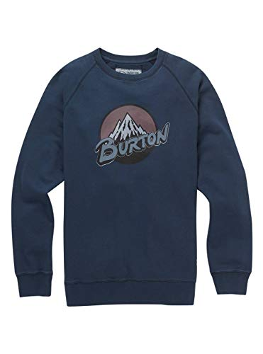 Burton Herren Retro Mountain Organic Crew Sweatshirt, Mood Indigo, L