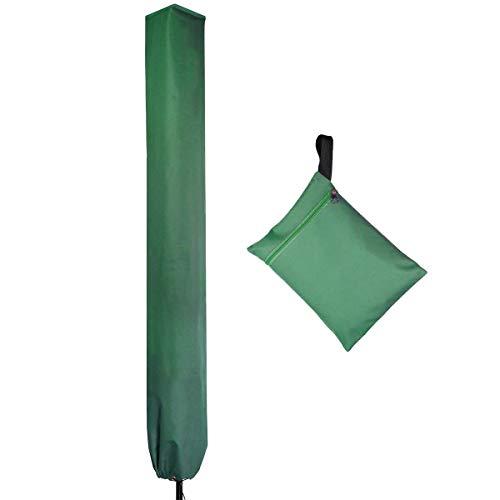 PATIO PLUS - Funda para tendedero giratorio (16 x 16 x 165 cm, impermeable, con cremallera 600D, revestimiento de PVC, color verde 12006