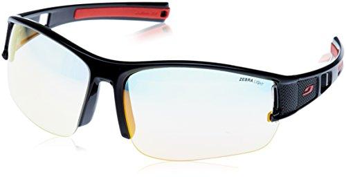 Julbo Eole Zebra Light Herren Sonnenbrille, schwarz/rot