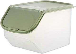 HYRGLIZI Boîte scellée de Stockage des Aliments séchés avec Tasse à mesurer en Plastique Cuisine céréale Farine de Riz Har...