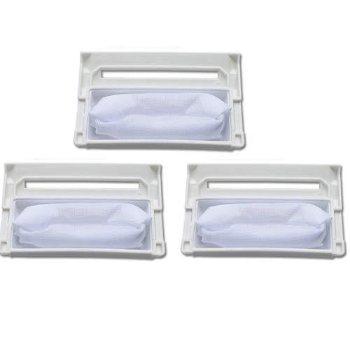 Fantisi 3 unids piezas de repuesto para una lavadora adecuada para LG lavadora filtro 5231FA2239N-2S.W.96.6 para piezas LG lavadora