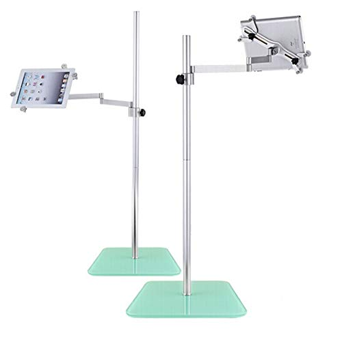 unho Supporto Tablet treppiede Alluminio, Supporto treppiede per Telefono Supporti per Tablet PC Phone Stand Supporto per Tablet da Pavimento Regolabile addatto ai telefoni e Tablet da 3,5-11 Pollici