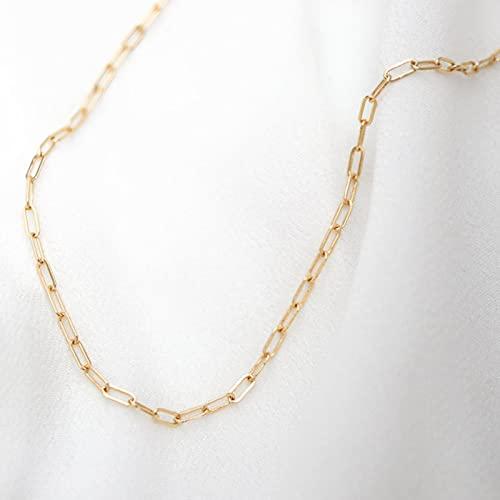 ZXCM Collar Collar de Gargantilla de Oro Hecho a Mano Mujeres de joyería para Mujer